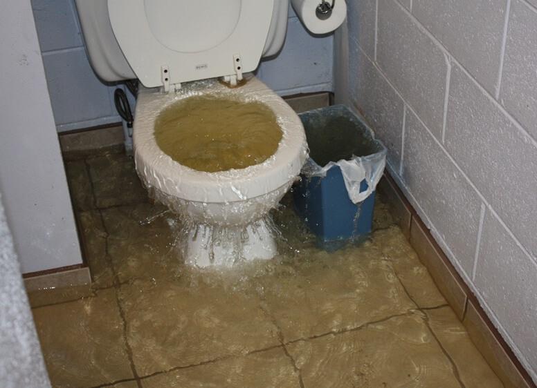 запушване на тоалетни